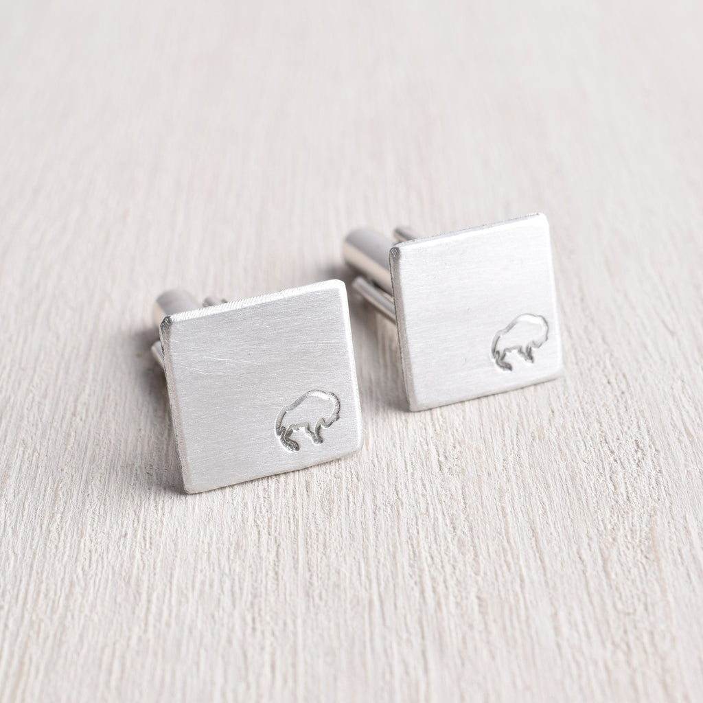 WHITE TRUFFLE BUFFALO CUFFLINKS