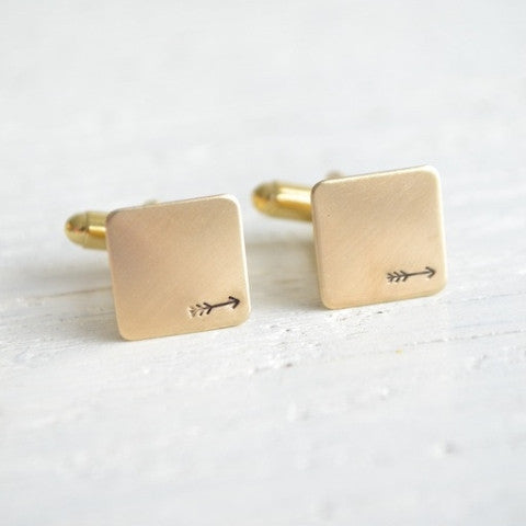 Arrow Stamped Cufflinks