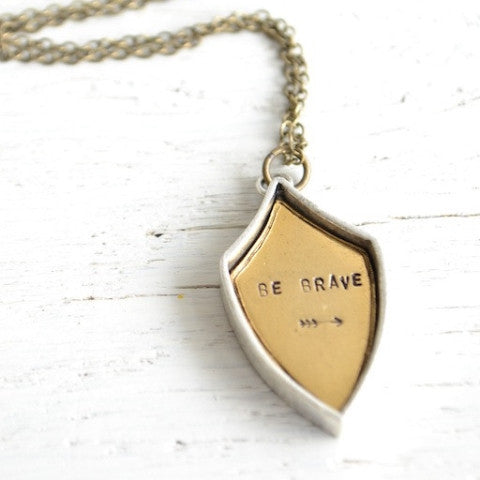 Be Brave Crest Necklace