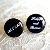 Custom Date Today and Forever Cufflinks