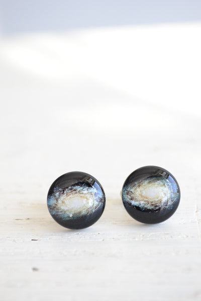 Milky Way Galaxy cufflinks - Inspired by astronomy (PC104)