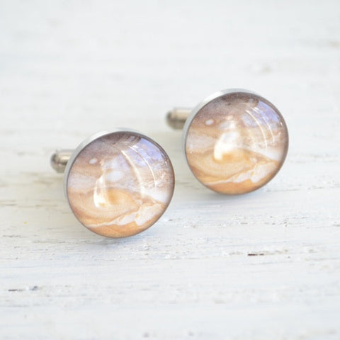 Mars planet cufflinks - astronomy inspired (PC107)