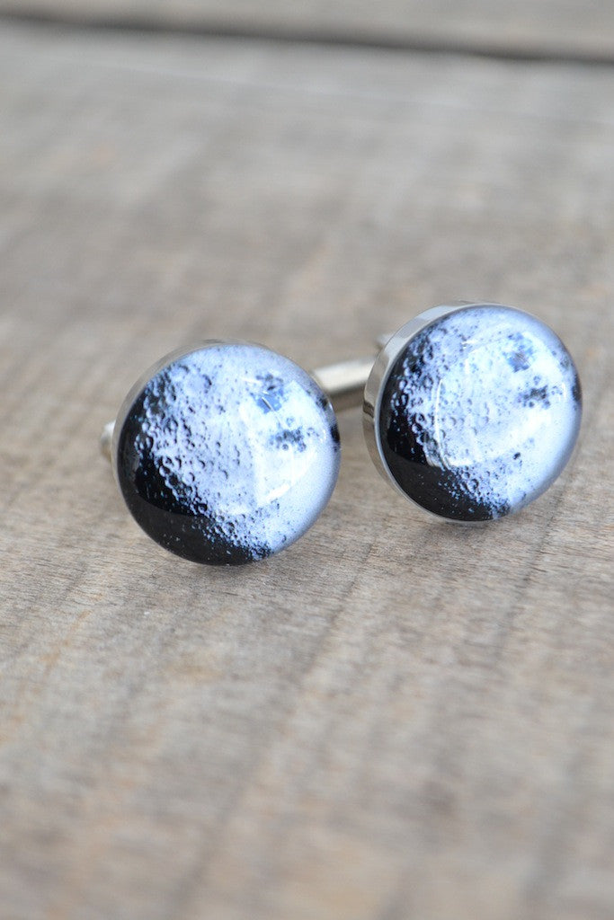 Moon cufflinks - astronomy inspired (PC108)