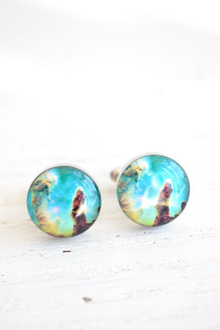 Nebula cufflinks - astronomy inspired (PC106)