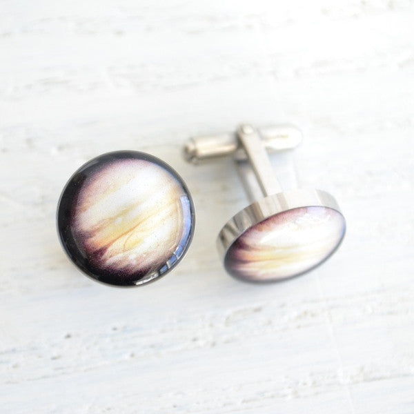 Mars planet cufflinks - astronomy inspired (PC111)