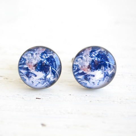 Planet Earth cufflinks - astronomy inspired (PC115)