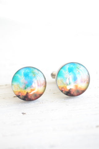 Nebula cufflinks - astronomy inspired (PC116)