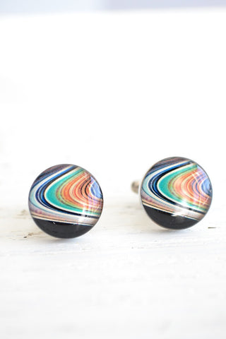 Planet Saturn cufflinks - astronomy inspired (PC117)