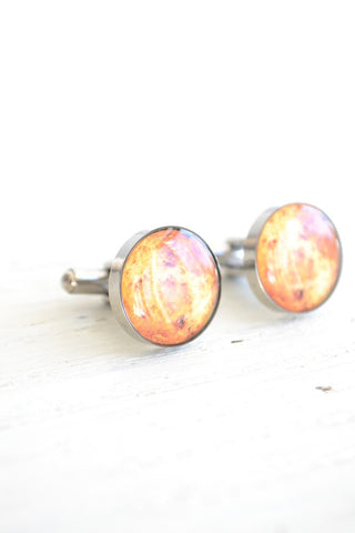 Sun cufflinks - astronomy inspired (PC120)