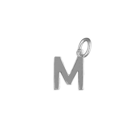 Silver Initial M Pendant Necklace