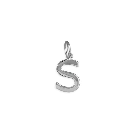 Silver Initial S Pendant Necklace