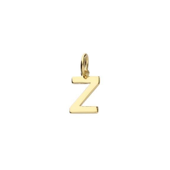 Gold Initial Z Pendant Necklace