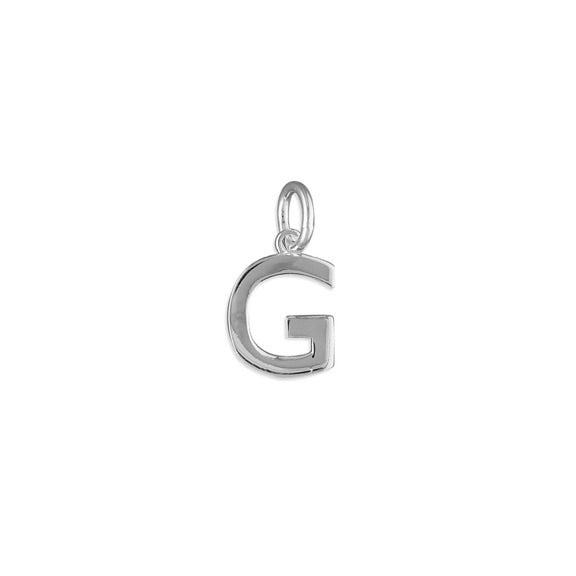 Silver Initial G Pendant Necklace