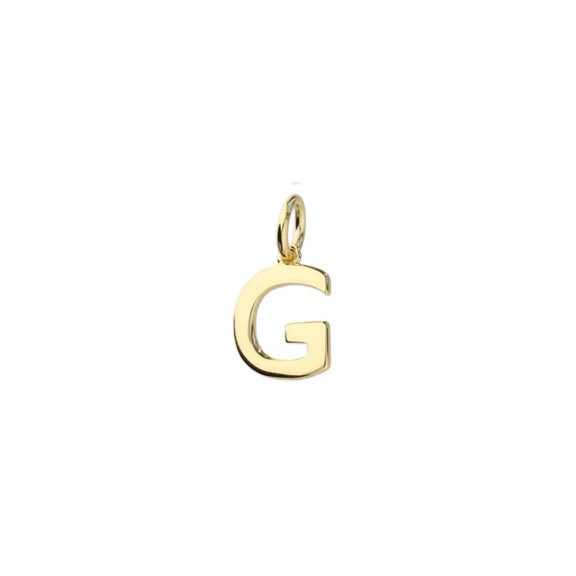 Gold Initial G Pendant Necklace