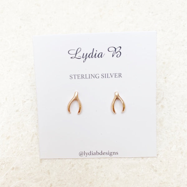 ***FLASH SALE 30% OFF*** RACHEL WISHBONE STUDS