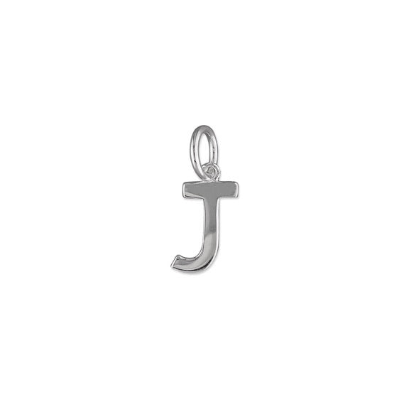 Silver Initial J Pendant Necklace