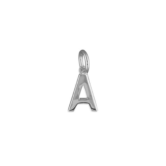 Silver Initial A Pendant Necklace