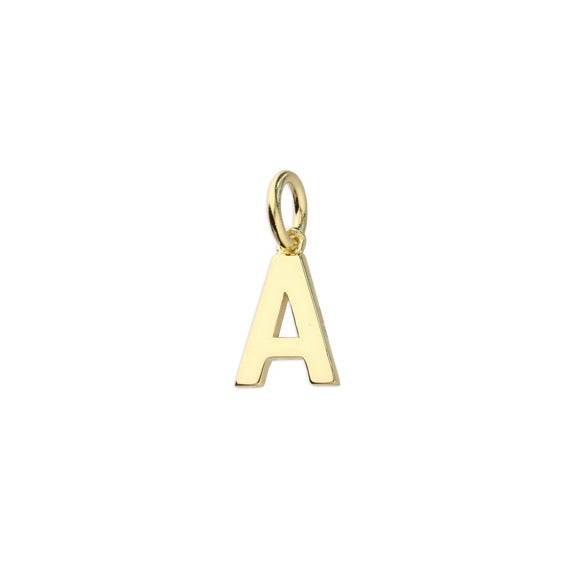 Gold Initial A Pendant Necklace