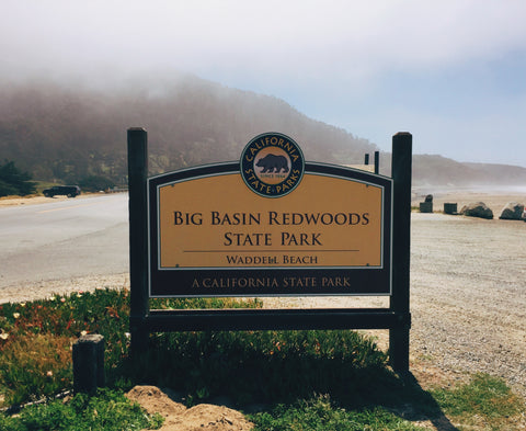 Big Basin State Park Entrance Sign