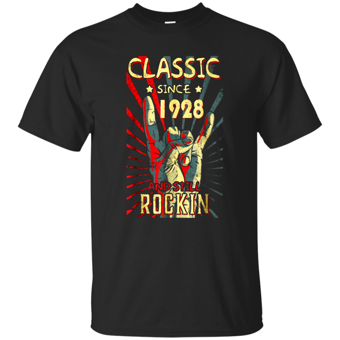 Classic Since 1928 Still Rockin Birthday Shirt Vintage Rock