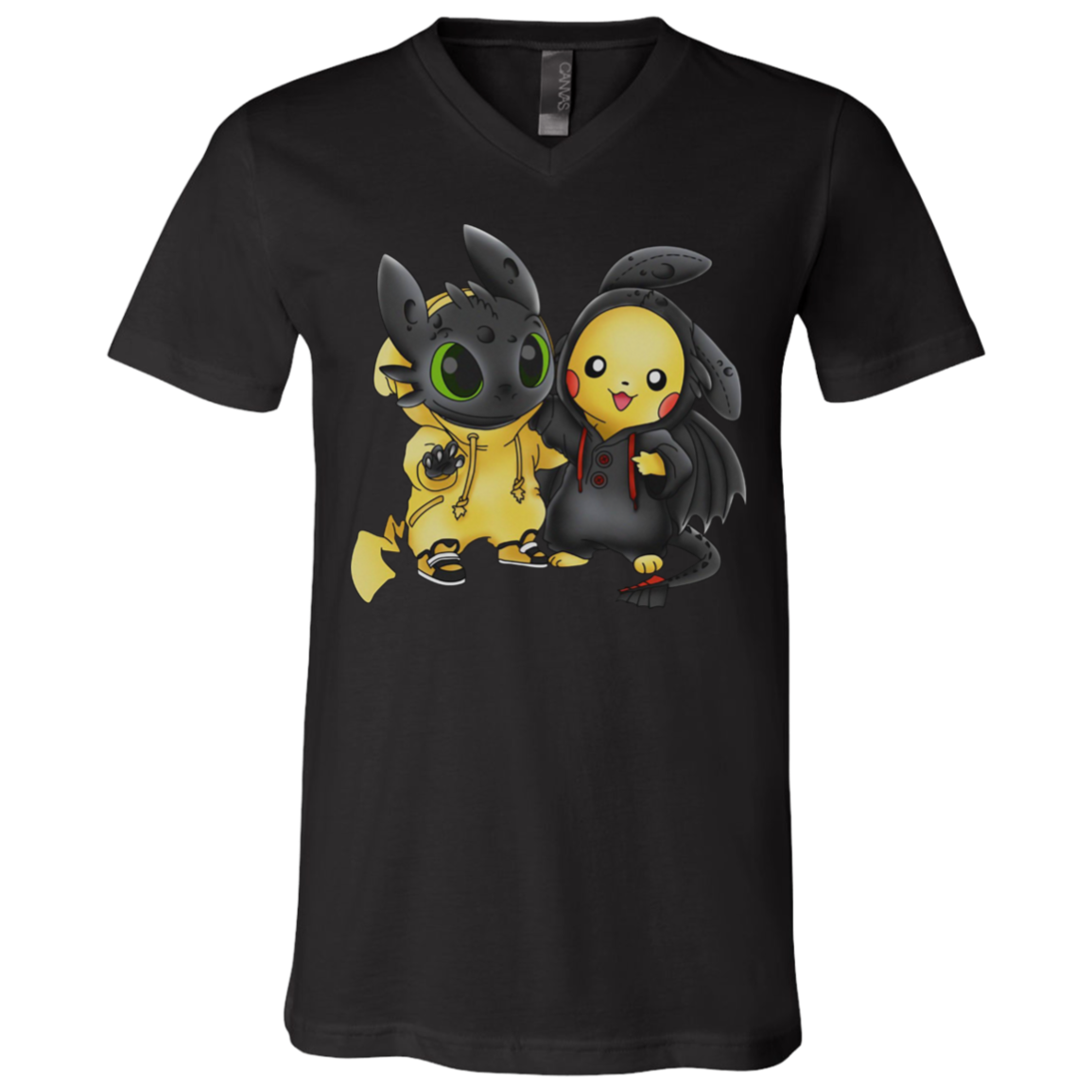 Baby Pikachu And Toothless We Are Best Friend Unisex V Neck