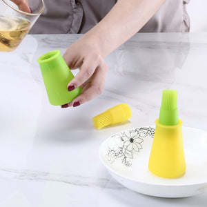 1Pc 73ml High Temperature Resistant Oil Bottle Silicone Brush Kitchen BBQ Tool Barbecue Brush Q3