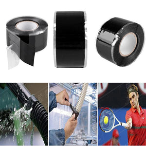 1Pcs Useful Tools Waterproof Silicone Performance Repair Tape Bonding Rescue Self Fusing Hose Black Garden Water Pipe Connector