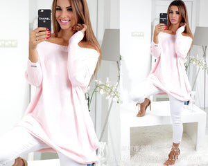 2018 Women Spring Autumn Dresses Sexy Party Elegant Fashion Slash Neck Long Sleeve Midi Dress New Female Pink Dresses Vestidos