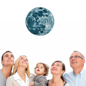20cm Luminous Moon Earth Cartoon DIY 3D Wall Stickers for Kids Room Bedroom Glow In The Dark Wall Sticker Home Decor Living Room
