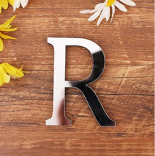 28 English Letters Acrylic Mirror Surface Wall Sticker 3D Silver Alphabet Poster Bedroom Festival Party Decoration DIY Art Mural