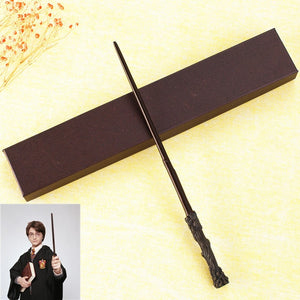 35-40cm New Top Quality Metal core Snape Dumbledore Magic Wand With Gift Box Cosplay Game Prop Collection Harry Potter Toy Stick
