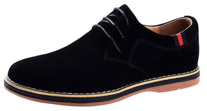 VanciLin Men's Casual Suede Leather Dress Shoes Lace-Up Brogue Oxford Shoes