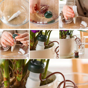 8 pcs/Lot Indoor Auto Drip Irrigation Watering System Automatic Plant Waterers For Houseplant Seen Novelty Households