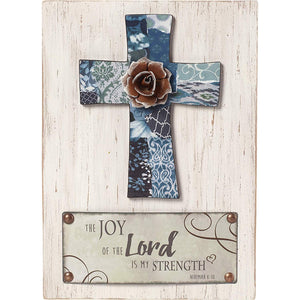 Bless This Home Wood/Metal Wall Plaque With Three Hooks