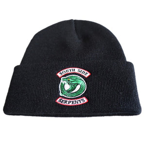 Adult Riverdale South Side Serpents Cosplay Hats Beanie Cap Winter Knitted Embroidery Hat