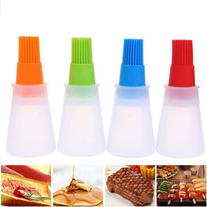 Portable Silicone Oil Bottle With Brush Baking BBQ Basting Brush Pastry Oil Brush Kitchen Baking Honey Oil barbecue Tool Gadgets