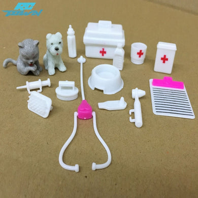 RCtown 15pcs Mini Medical Equipment Toys Set for Pet For Doll Accessories zk25