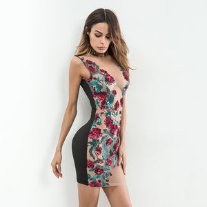 Sexy Women Mesh Embroidery Summer Sequins Dress 2018 Off Shoulder Perspective Floral Luxury Nightclub Woman Party Dresses Vesito
