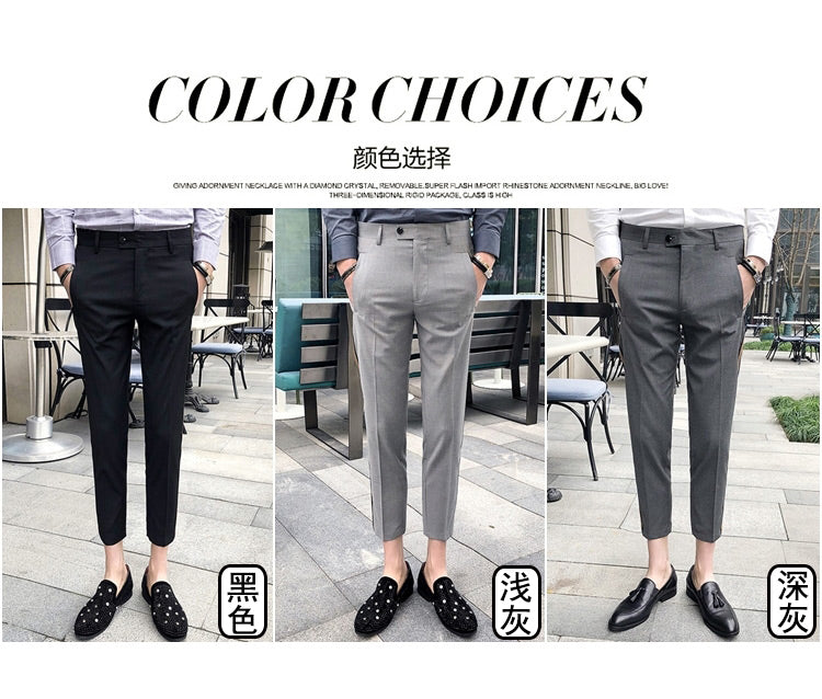 Side Tape Pant 2018 Mens Dress Pant Business Casual Office Trousers