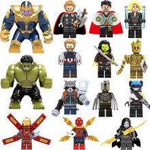 Super Heroes lEGOED Avengers Marvel: Infinity War Iron Man Thanos Thor Black Panther Falcon Gamora Hulk Loki Building Blocks toy
