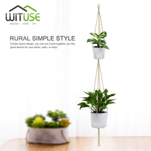 WITUSE Vintage Macrame Plants Hanger Hook Flower Pot Holder 4 Legs String Hanging Rope Wall Art Home Garden Balcony Decoration