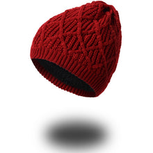 YIFEI Women Winter Warm Wool Knit Hats Autumn Fashion Beanies Men Warm Thick Skullies Casual Plus Velours Knitted Caps