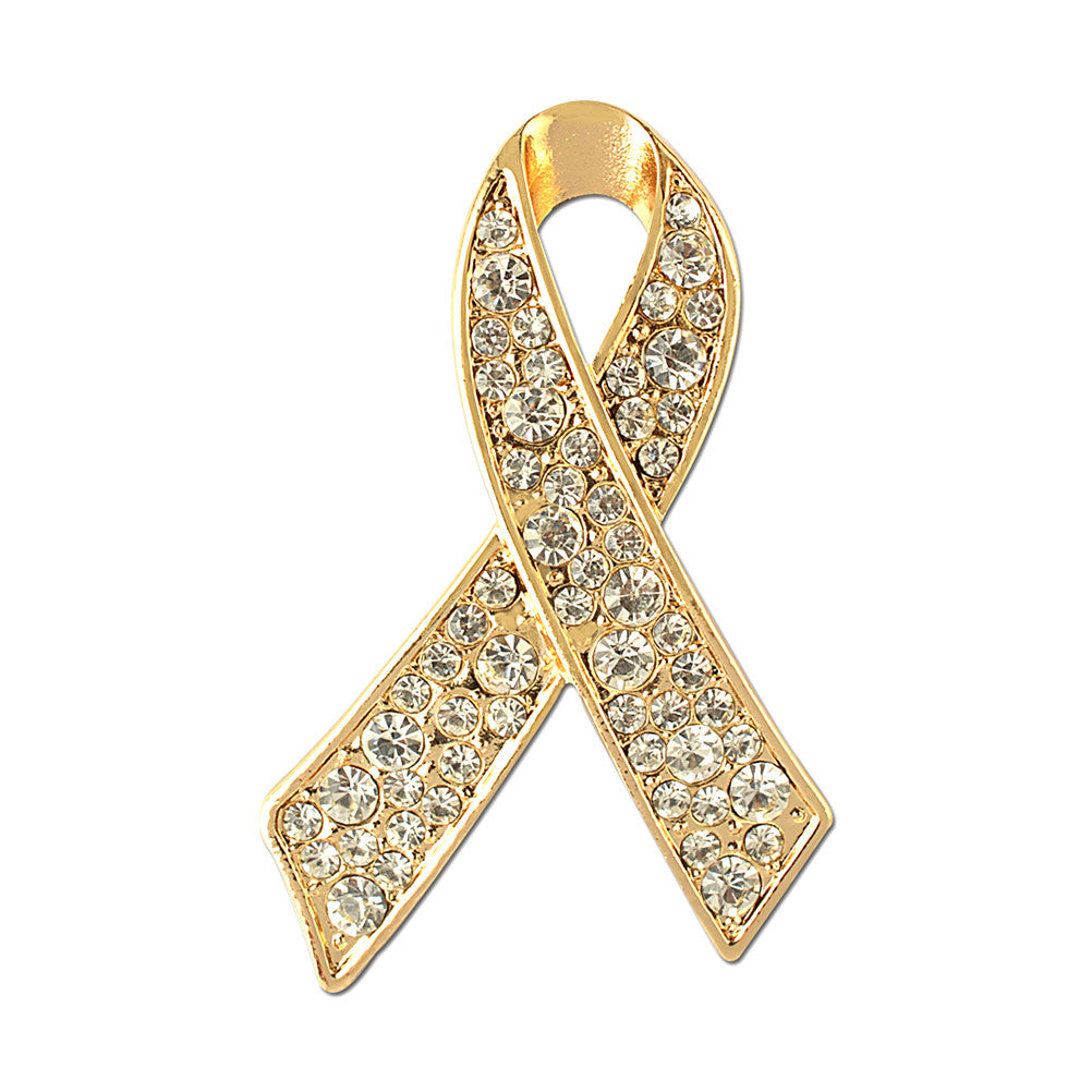 Ribbon Brooch with Crystal Rhinestones Delicate Lapel Pin Jewelry Accessories for Women