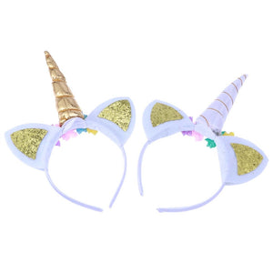 2pcs Unicorn Headband Glitter Unicorn Horn Headbands for Party Favor Supplies
