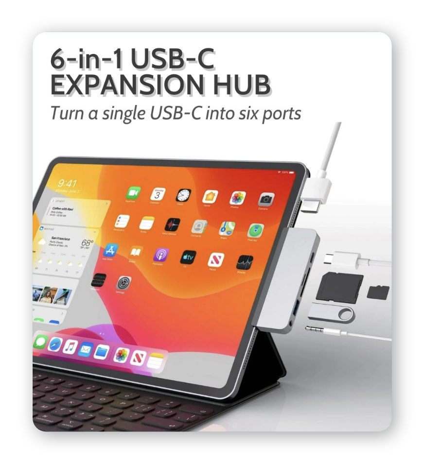 6-in-1 USB-C Expansion Hub