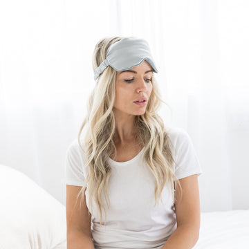 Silk Eye Mask - Gray