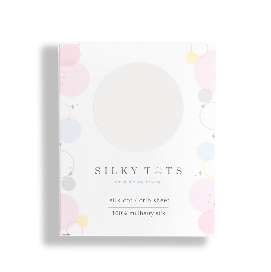 Silk Crib Sheet - Pearl