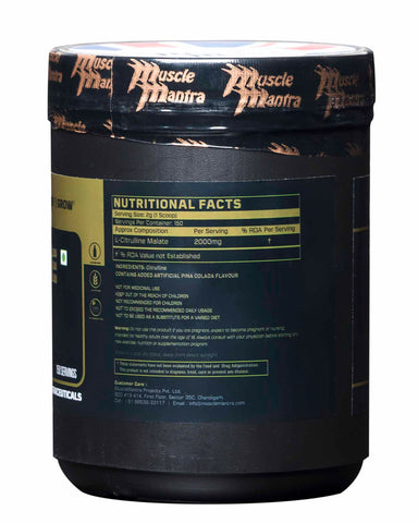 Musclemantra Citrulline Malate Pina Colada 300g