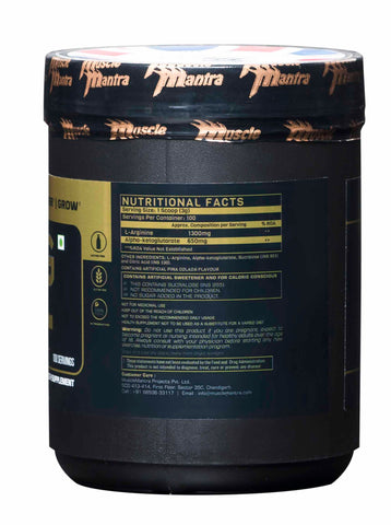 Musclemantra AAKG Powder Pina Colada 300g