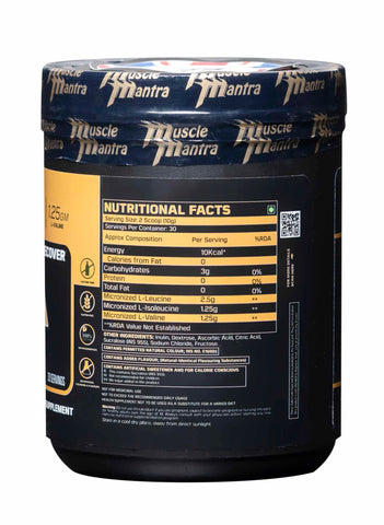 Musclemantra BCAA Powder- 300 Gm